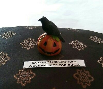 Halloween Raven Adorned Jack O Lantern Pumpkin 4 Your 16 Inch Fashion Dolls