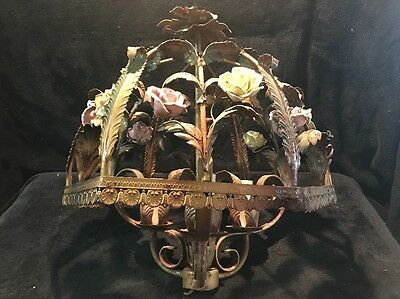 Vintage Rose Chandelier BEAUTIFUL!!! Needs A Little TLC