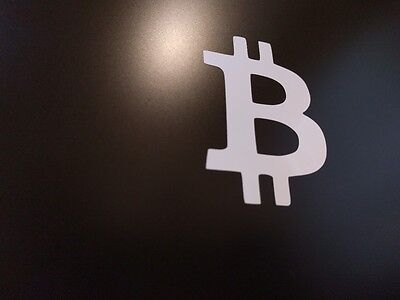 "4 pack - Bitcoin Logo Vinyl Decal Sticker Gloss White 4"" 1/2 x 6"""