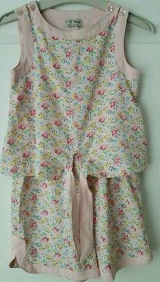 #bnwot# Girls Next Pink Floral Pattern Playsuit Age 12 Years *