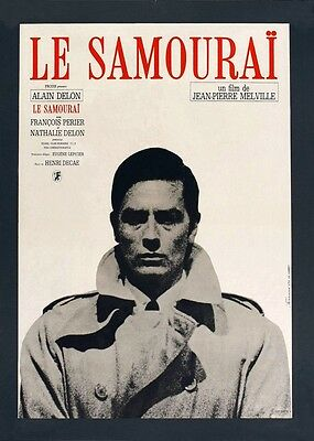 POSTER Le samouraï (FRANCE, 1967) Alain Delon is Jef Costello - VERSION FRANCE