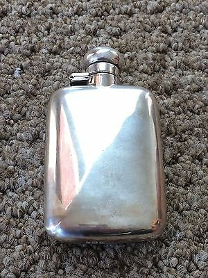 Fabulous Edwardian 1908 Silver Curved Hip Flask by Sydney & Co