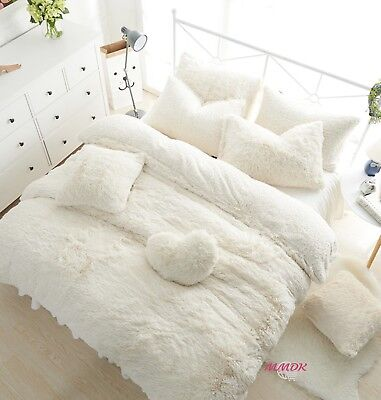 Fur Soft Warm Winter Princess Duvet Cover Bedding Set High Quality 3/4/7Pcs UPS