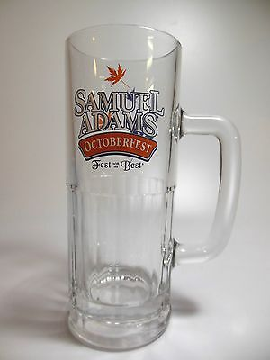 Samuel Adams Octoberfest Fest with the Best Glass Stein 20 oz. Maple Leaves EUC!