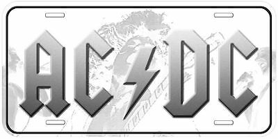ACDC Aluminum Novelty Auto Car License Plate