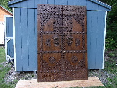 17th Century Wood and Wrought Iron Chinese Doors - Very Ornate and Heavy