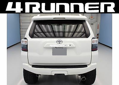 Super White Rear Liftgate Vinyl Decal For 2010-2017 Toyota 4Runner New Free Ship