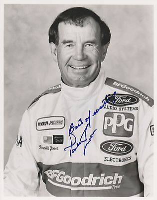 Indianapolis 500 Winner PARNELLI JONES Signed Indy 8x10 Photo