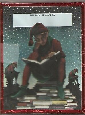 Antioch Book Plates Chris Van Allsburg Elf Reading Book 50 in Sealed Box New