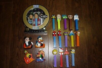 Pez Superior Toy Candy Dispenser Big Lot Of 16 Elvis Limited Edition Sealed