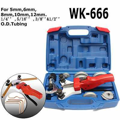 WK-666 Multi Copper Pipe Bender Tube bending Tool Kit with Tube Cutter Aluminum