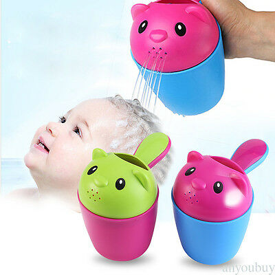 Shower Bear Cup Baby Toy Bath Water Pouring Shampoo Rinse Kids Hair Wash HOT