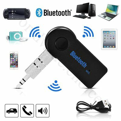 Car Wireless Bluetooth 3.0 Audio Receiver Music Adapter Built-in Mic AUX 3.5mm