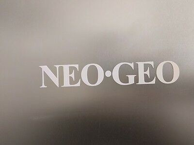 "4 pack -NEOGEO Neo GEO NEO.GEO Gloss White Vinyl Decal Sticker 3"" wide x 1/2"""