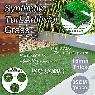 3 SQM Synthetic Turf Artificial Grass Plastic Olive Plant Fake Lawn Flooring