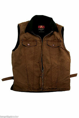 Mens Kakadu Kelly Vest concealed carry brown oilskin left or right hand CCW