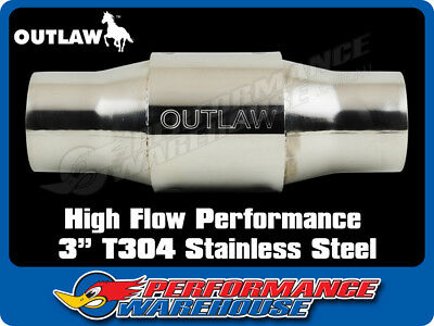 """Outlaw Catalytic Converter High Flow Performance 3"""" Stainless Steel *was $159"""