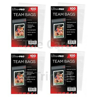 400 TEAM BAGS Ultra Pro Resealable Clear Card Protectors 4x 100ct