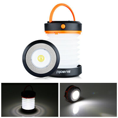 Collapsible Camping Camp Hiking Lantern Light USB Rechargeable Lamp Torch Out AU