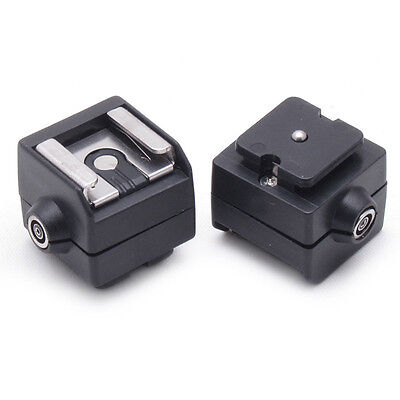 Portable SC-2 Flash Hot Shoe Adapter w/ PC Sync Socket for Digital Camera Beamy