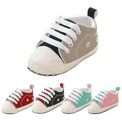 Toddler Baby Boy Girl Soft Sole Crib Shoes Infant Sneakers Prewalker 0-18 Months