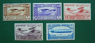 Ägypten Egypte 1933 Graf Zepplin (Aviation Congres) kpl. Satz postfrisch (Y244)