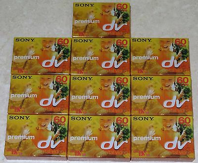 10x SONY MINI DV60PR3 CAMCORDER CASSETTE/TAPES