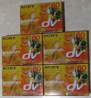 5x SONY MINI DV60PR3 CAMCORDER CASSETTE/TAPES