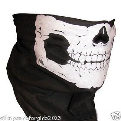 Skull Face Mask Ghost Bandanna Skeleton Balaclava Ski Sport Bike Rider Halloween