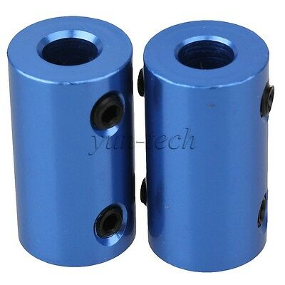 2pcs 5x6mm Aluminum Alloy Shaft Robot Rigid Copper Motor Coupling Coupler