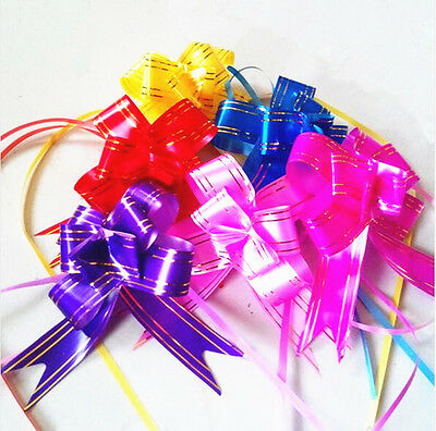 100-500pcs 12x200mm Pull Flower Ribbon Bow Gift Wrap Mixed COLOR