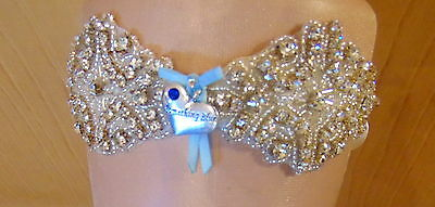 Diamante bridal wedding garter. Read to ship