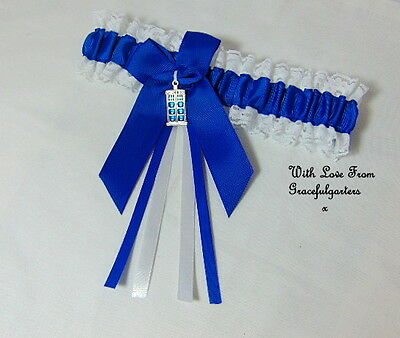 Dr Who Tardis bridal wedding garter. timelord. dalek.