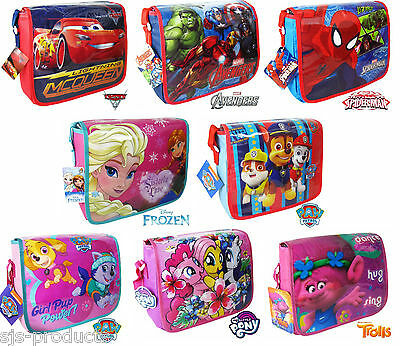 Boys Girls Kids Character Messenger Shoulder School Book Cross Body Bag Pack NEW