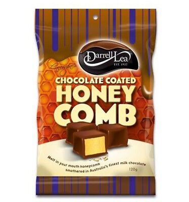 Darrell Lea Chocolate Coated Honeycomb 120g x 12