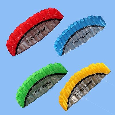 1.4/2.5M Dual Line kitesurfing trainer power parafoil Sail/Surfing kite Colorful