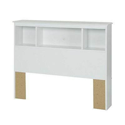 South Shore Furniture 3550098 Crystal Bookcase Headboard, 39'', White, Twin