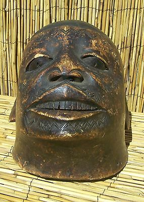 African Makonde Lipico Helmet Mask from Mozambique