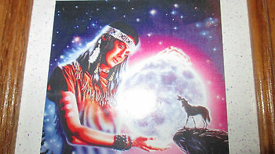 Maiden With Wolf And Moon Framed Picture
