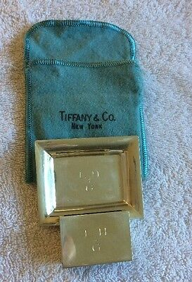 Tiffany Match Box And Ashtray Sterling Holder
