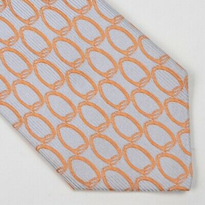 Ermenegildo Zegna Krawatte Tie 100% Seide Silk Made in Italy Blau Orange Blue