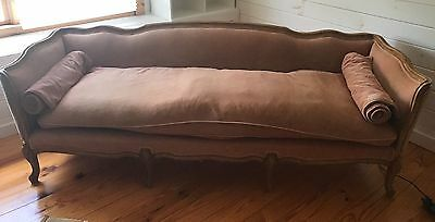Antique Victorian Style Couch Blush/ Salmon