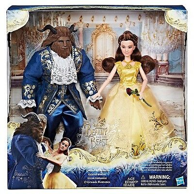 "Disney Beauty and the Beast Grand Romance Dolls 11"" Belle & Beast Doll Set NEW"