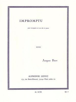 Jacques Ibert Impromptu Trumpet and Piano Classical Trumpet MUSIC BOOK