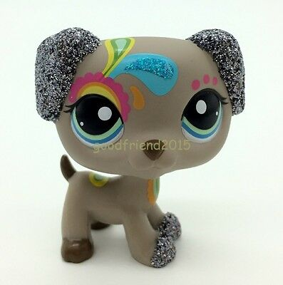 LPS Littlest Pet Shop Animal Loose Toy #2344 Tattoo Dalmatian Dog Glitter Puppy