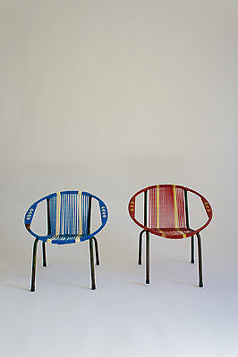 Red & Blue Childrens Bucket Chairs