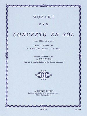 Concerto En Sol Pour Flûte Et Piano Classical Flute Learn to Play MUSIC BOOK