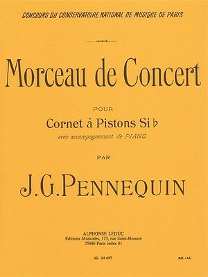 J G Pennequin Morceau de Concert Cornet and Piano Classical Trumpet MUSIC BOOK