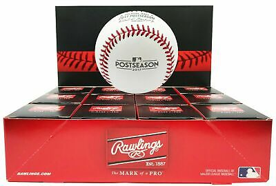 (12) Rawlings 2017 Postseason Playoffs Official MLB Game Baseball Boxed - Dozen