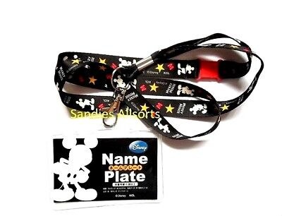 Disney Mickey Mouse Snap Quick Release Lanyard Neck Strap / ID Card Holder